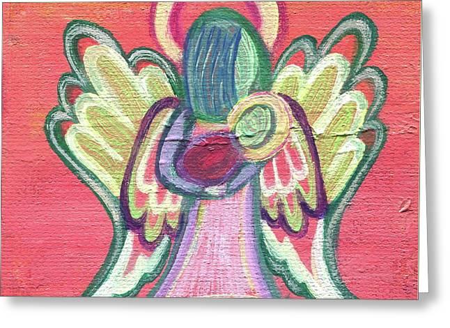 Guardian Angel Greeting Card by Danielle Tayabas
