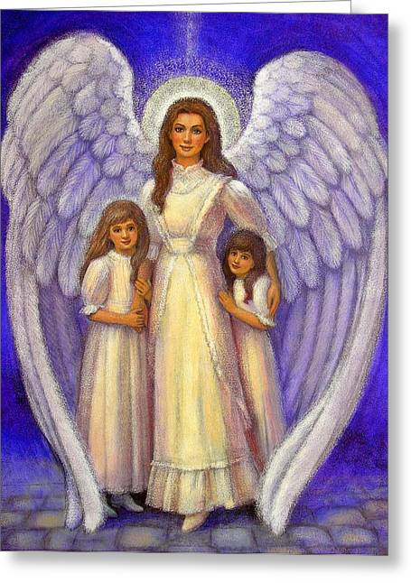 Guardian Angel Greeting Cards - Guardian Angel Greeting Card by Sue Halstenberg