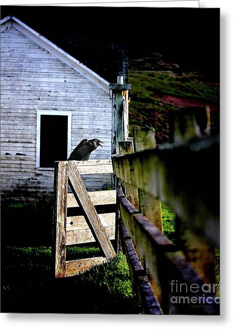 Guardian At The Gate Greeting Card by Wingsdomain Art and Photography