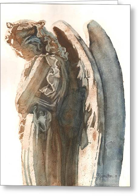 Religious Paintings Greeting Cards - Guardian Greeting Card by Belinda Hamilton