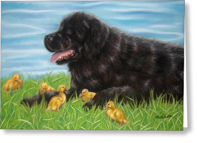 Ducklings Pastels Greeting Cards - Guardian Greeting Card by Monica  Webster