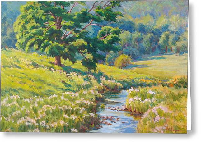 Oak Creek Greeting Cards - Guardian Of The Meadow Greeting Card by Keith Burgess