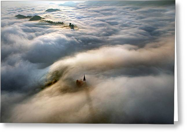 Fog Greeting Cards - Guardians Greeting Card by Matjaz Cater