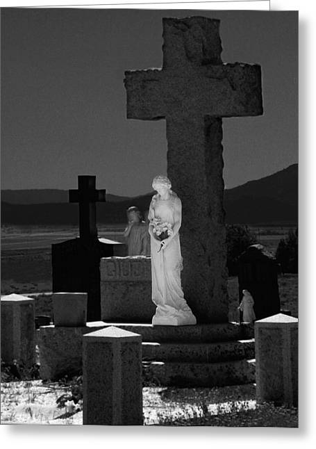 Headstone Greeting Cards - Guardians of Souls Greeting Card by Peter Piatt