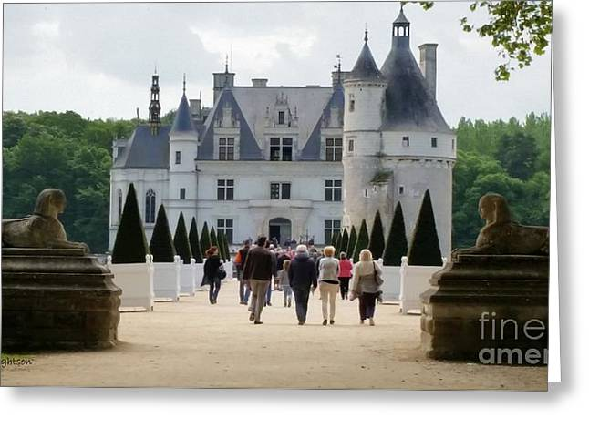 Guarding Chenonceau Greeting Card by Lainie Wrightson