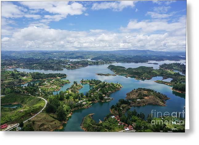 Guatape, Antioquia Department, Colombia Greeting Card by Eyal Bartov