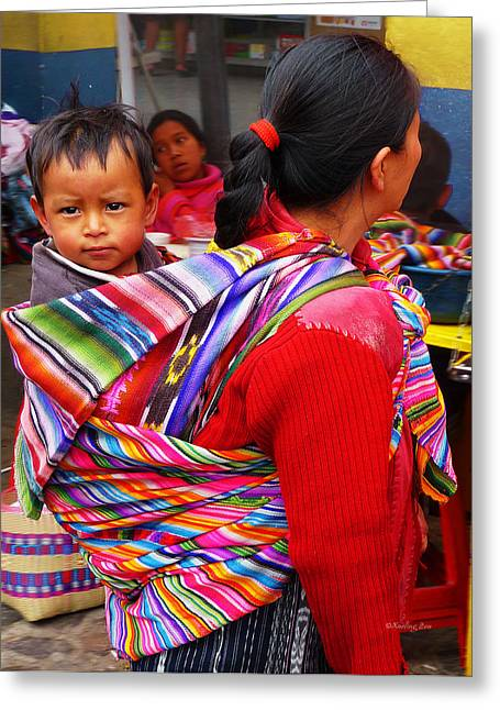 Textile Photographs Greeting Cards - Guatemala Impression 1 Greeting Card by Xueling Zou
