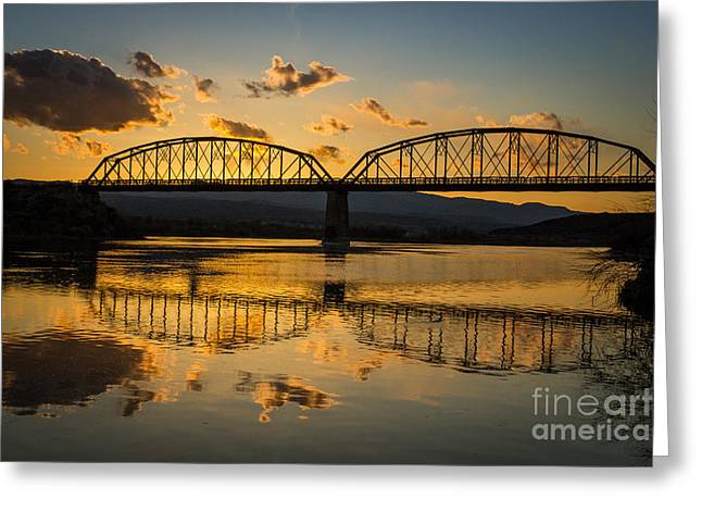 Famous Bridge Greeting Cards - Guffey Bridge at Sunset Idaho Landscapes by Kaylyn Franks Greeting Card by Kaylyn Franks