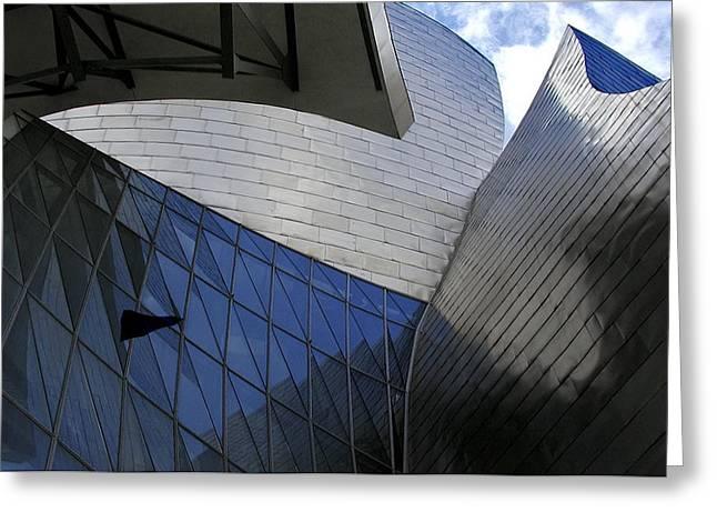 Guggenheim Greeting Cards - Guggenheim 3 Bilboa Spain Greeting Card by Paul Basile