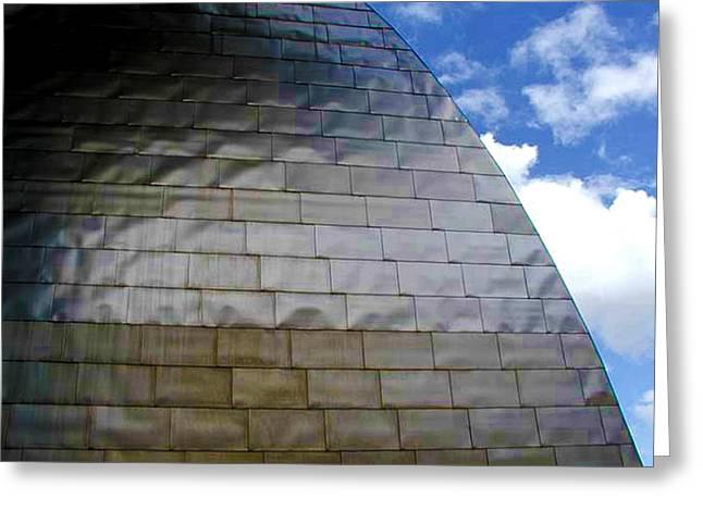 Guggenheim Greeting Cards - Guggenheim 4 Bilboa Spain  Greeting Card by Paul Basile