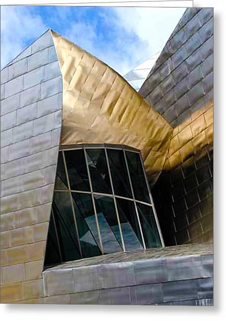 Guggenheim Greeting Cards - Guggenheim 5 Bilboa Spain Greeting Card by Paul Basile