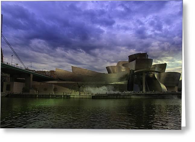 Guggenheim Bilbao Greeting Card by Contemporary Art