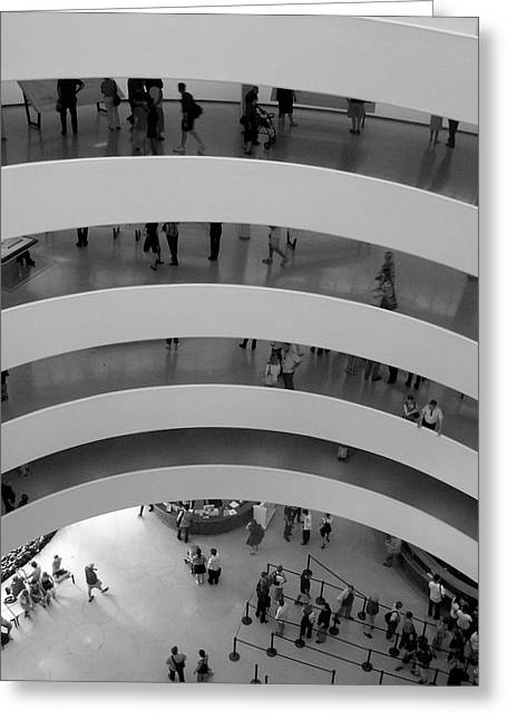 Guggenheim Greeting Cards - Guggenheim Interior Greeting Card by Vijay Sharon Govender