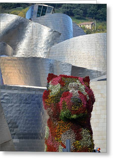 Recently Sold -  - Reflex Greeting Cards - Guggenheim Museum Bilbao - 2 Greeting Card by RicardMN Photography