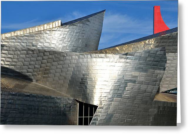 Dinning Room Greeting Cards - Guggenheim Museum Bilbao - 5 Greeting Card by RicardMN Photography