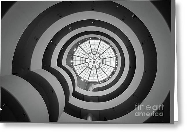 Guggenheim Museum Greeting Card by Inge Johnsson
