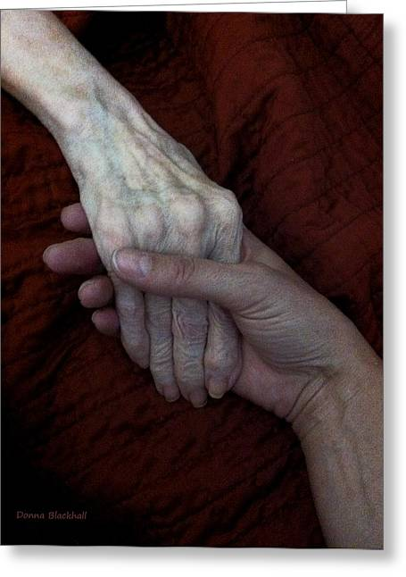 Elderly Hands Greeting Cards - Guidance Greeting Card by Donna Blackhall