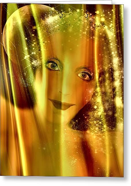 Seraphim Angel Digital Art Greeting Cards - Guiding Light Greeting Card by Patricia Motley