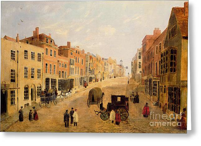 19th Century Architecture Greeting Cards - Guildford High Street Greeting Card by English School