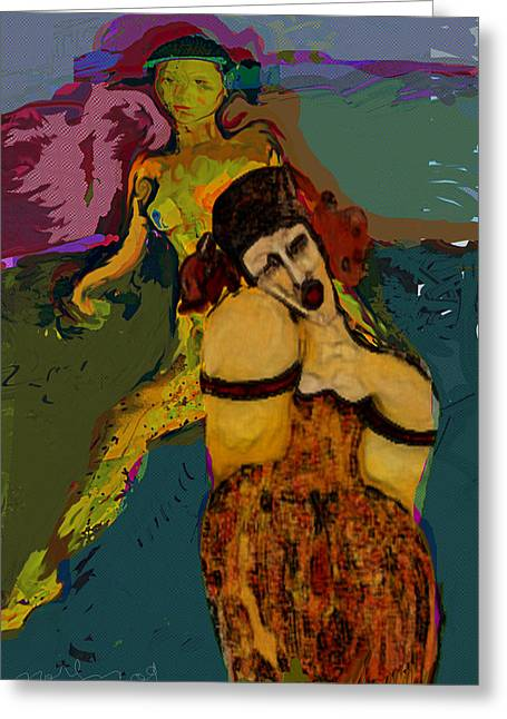 Trial Mixed Media Greeting Cards - Guilt free zone Greeting Card by Noredin Morgan
