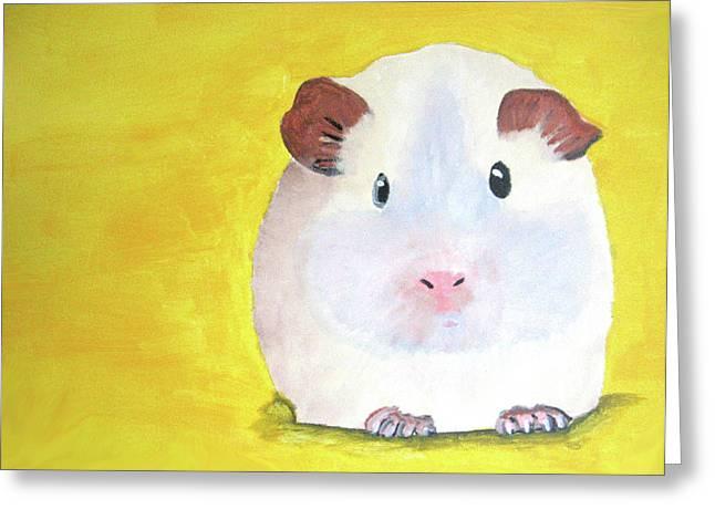 Guinee Pig Greeting Card by Darren Stein