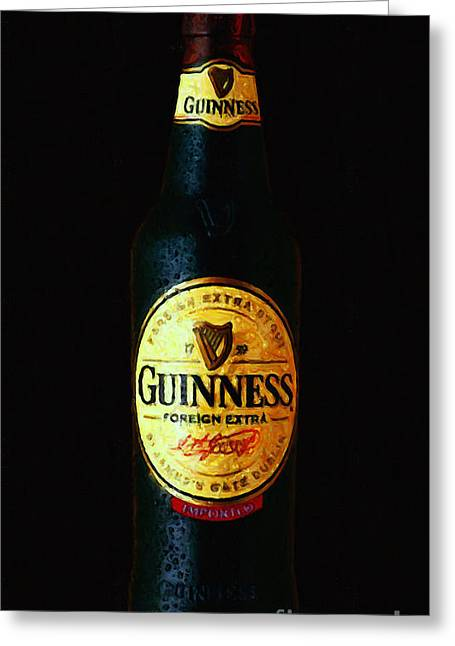 Brew Pub Greeting Cards - Guinness Greeting Card by Wingsdomain Art and Photography