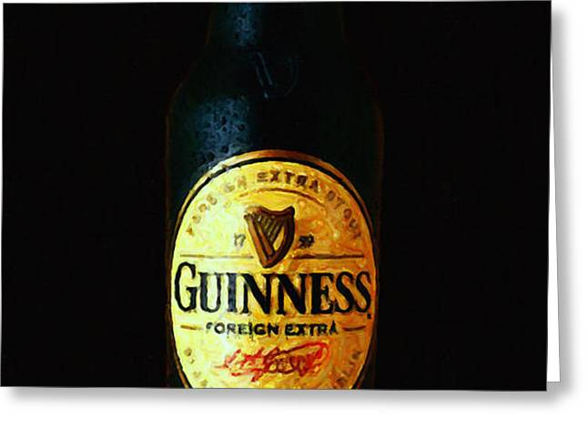 Guinness Greeting Card by Wingsdomain Art and Photography