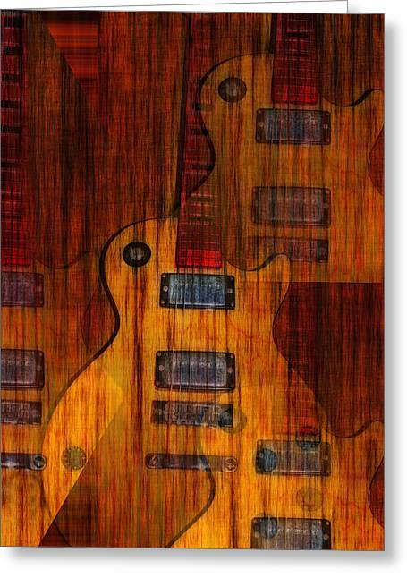 Guitar Army Greeting Card by Bill Cannon