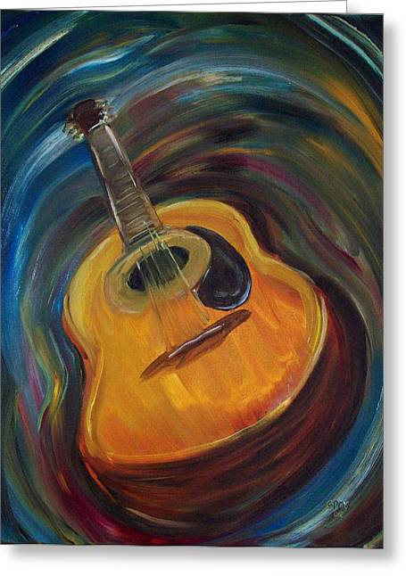 Guitar Greeting Card by Clemens Greis