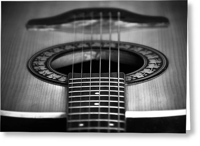 Svetlana Sewell Greeting Cards - Guitar close up Greeting Card by Svetlana Sewell