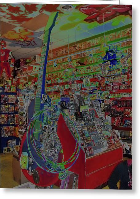 Toy Guitar Greeting Cards - Guitar Dream Greeting Card by Anne Cameron Cutri