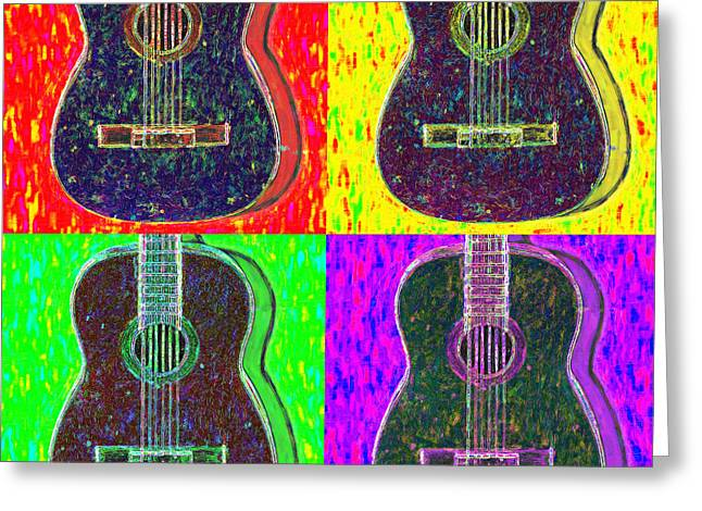 Punk Rock Music Greeting Cards - Guitar Four 20130123v1 Greeting Card by Wingsdomain Art and Photography