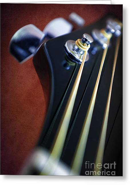 Mechanism Photographs Greeting Cards - Guitar Head Stock Greeting Card by Carlos Caetano