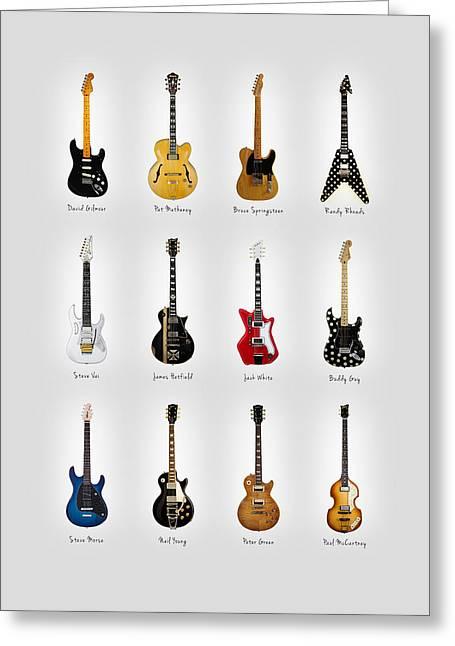 Guitar Icons No2 Greeting Card by Mark Rogan