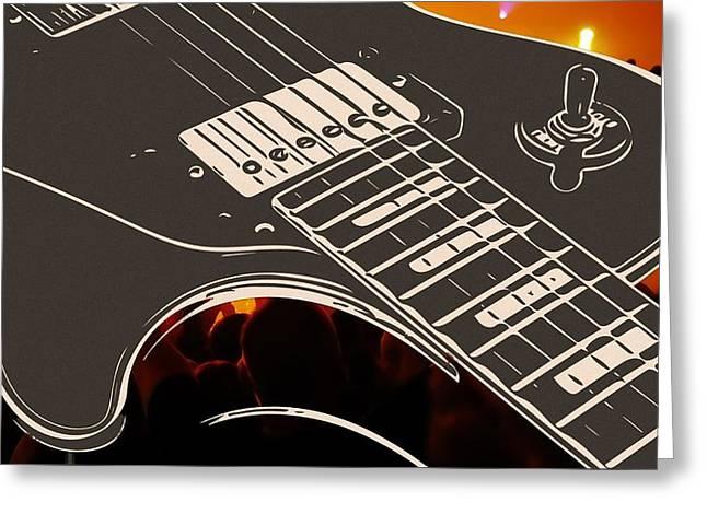 Guitar Greeting Card by Jirka Svetlik
