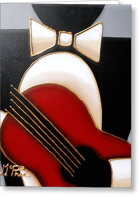 All That Jazz Greeting Cards - Guitar Greeting Card by Lori McPhee