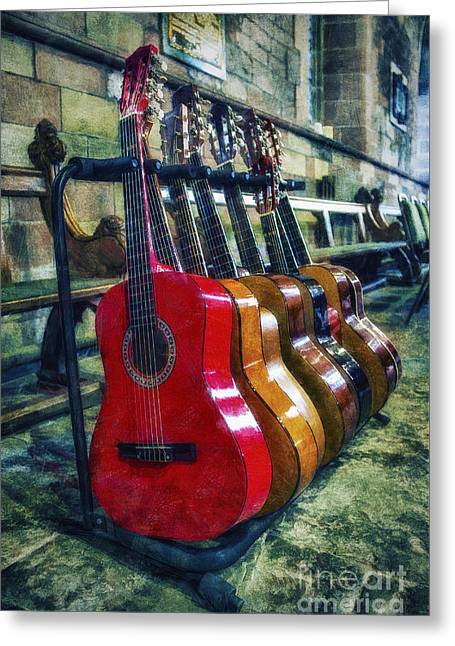 Heart Song Greeting Cards - Guitar Love Greeting Card by Ian Mitchell
