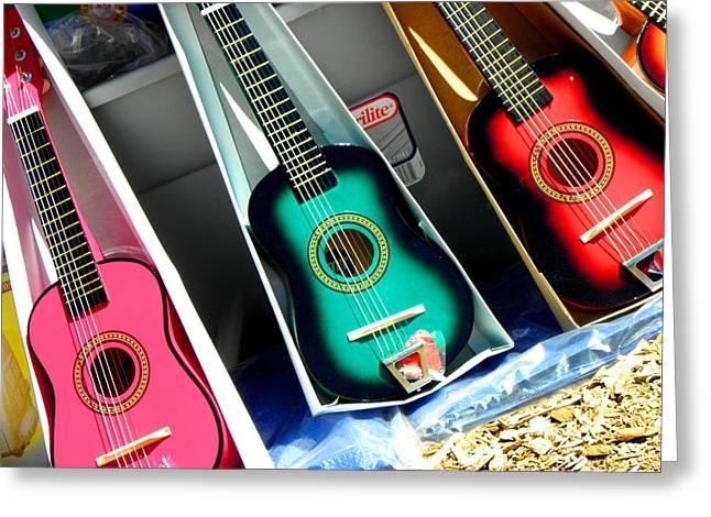 Intruments Greeting Cards - Guitar Music Greeting Card by Elizabeth Hoskinson