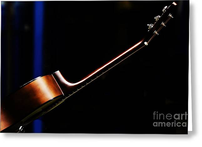 Guitar Art Greeting Cards - Guitar Greeting Card by Sheila Smart