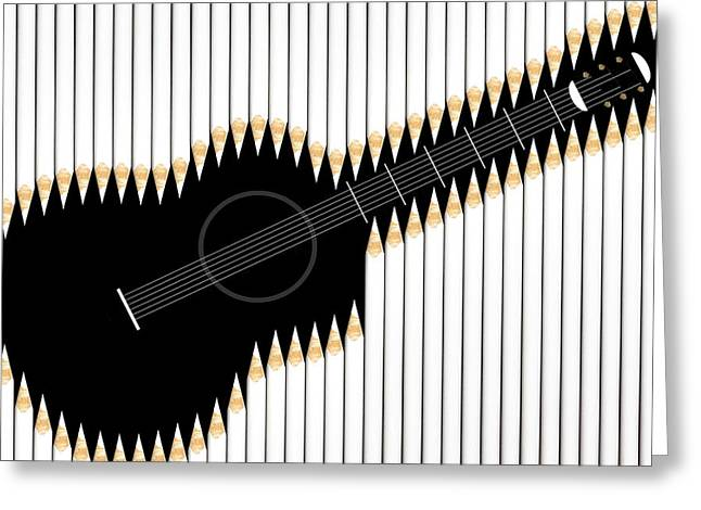 Still Life Greeting Cards - Guitar Greeting Card by Udo Dittmann