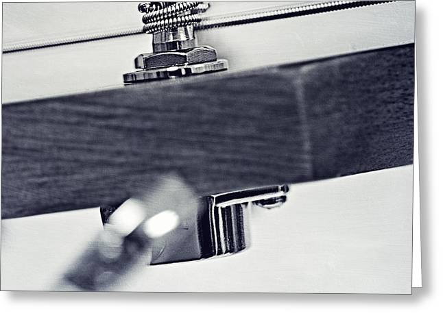 Music Time Photographs Greeting Cards - guitar V Greeting Card by Priska Wettstein