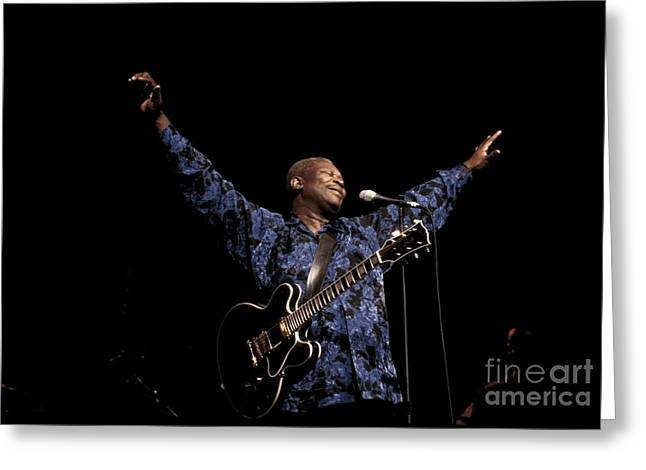 Guitarist Bb King Greeting Card by Front Row Photographs