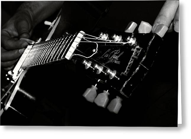 guitarist Greeting Card by Stylianos Kleanthous