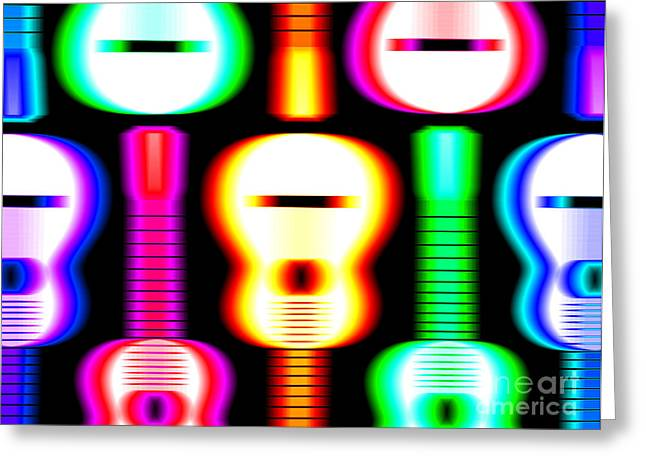 Acoustic Guitar Greeting Cards - Guitars on Fire 4 Greeting Card by Andy Smy