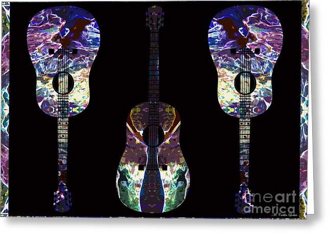 Three-amp Greeting Cards - Guitars -Three Amigos Greeting Card by Caitlin Lodato