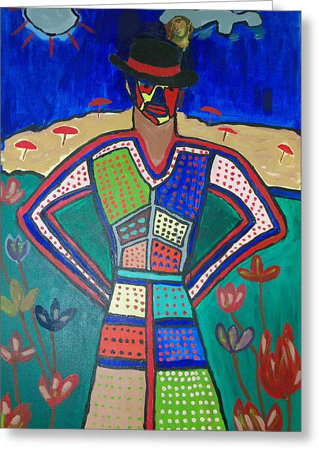 Russell Simmons Greeting Cards - Gula Woman Greeting Card by Russell Simmons