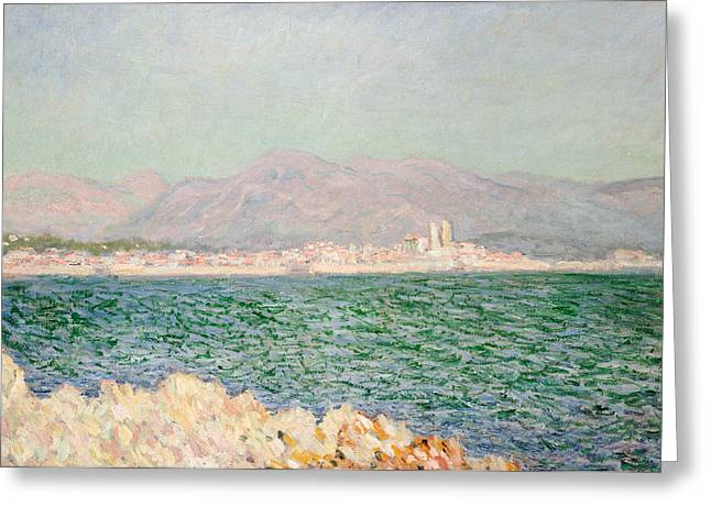 Gulf Of Antibes Greeting Card by Claude Monet