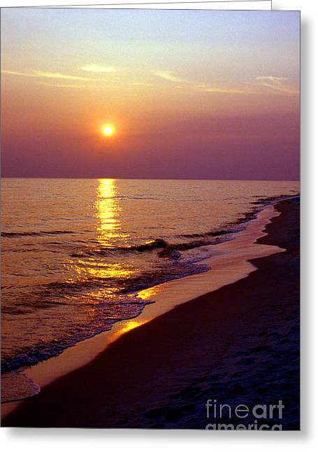 Florida Panhandle Sunset Greeting Cards - Gulf of Mexico Sunset Greeting Card by Thomas R Fletcher
