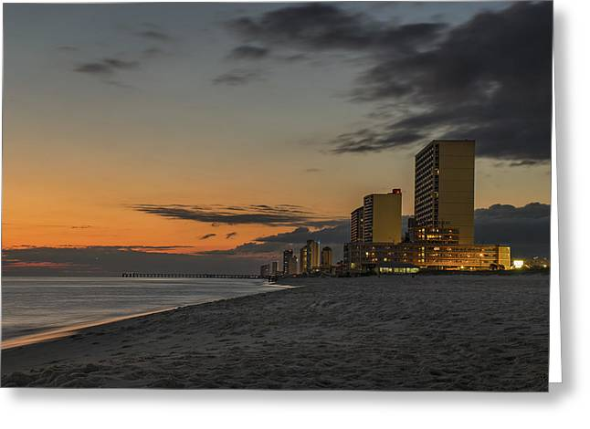 Panama City Beach Greeting Cards - Gulf Sunset Greeting Card by Kevin Ruck