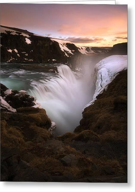 Gullfoss Greeting Card by Tor-Ivar Naess